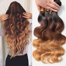 "Brazilian Body Wave Virgin Human Hair Ombre 3 bundles 12""12""12"", 300g"