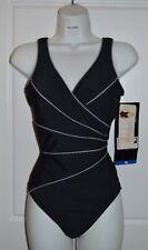 NWT Women's  Black MIRACLESUIT  Wrap  SWIMSUIT by Kirkland Bathing Suit Size 16