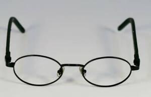 Fossil EDWIN Matte Black Metal Eyeglass Frames Designer Style Rx Eyewear
