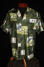 RARE COLLECTIBLE QUALITY 1950'S ROSS SUTHERLAND SILK HAWAIIAN SHIRT SZ EX LG