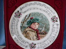 Royal Doulton Christmas Carols Plate I Saw Three Ships 4Th In Series Music Box