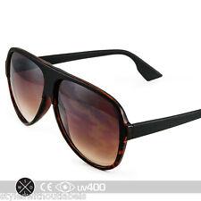 Tortoise Dual Finish Black Tear Drop Aviator Vintage Hipster Sunglasses S146