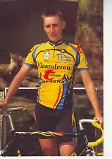 CYCLISME carte cycliste DANNY VAN CAPELLEN équipe VLAANDEREN-T-INTERIM