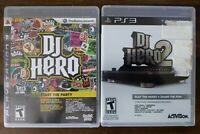 USED (w/ manuals) DJ Hero 1 + 2 - Lot of 2 - PlayStation 3 (PS3) Free Shipping