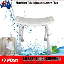 Adjustable Height Aluminium Bath Shower Seat Chair Stool Bench Pad Anti-slip