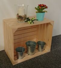 Large Wooden Apple Crate Vintage Style Handmade Display Unit Natural 0
