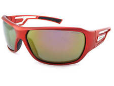 POLAROID polarized Satin Red wrap Sunglasses / Red Mirror Lens P7401B 0A4 JB
