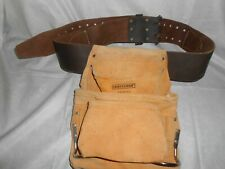 """CRAFTSMAN """"940642"""" SUEDE LEATHER TOOL POUCH & """"940626"""" LEATHER 3"""" x 60"""" BELT"""
