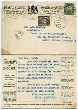 SOUTH AFRICA to GB POSTAGE DUE 1937 PRINTED POSTCARD SHUTER + SHOOTER BOOKS