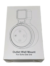 Lamodee Wall Outlet Mount for Amazon Echo Dot 3rd Generation White