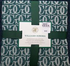 NWT Set 2 WILLIAMS-SONOMA Monogram Collection Grand Cuisine Logo Kitchen Towels