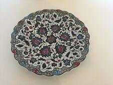 "Turkish Hand Made Ceramic Pottery Plate 35cm, 13"""