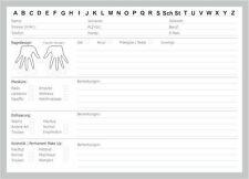 100 Karteikarten für Nagelstudio Kundenkarte DIN A5 mit Analyse optimiert