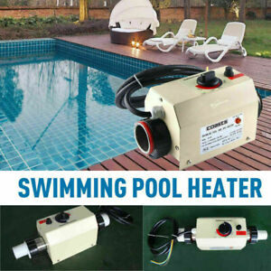 220V 3KW Swimming Pool Bathtub & SPA Water Heater Electric Heating Thermostat