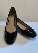 NEW - Womens VINCE CAMUTO black patent leather ballet flats Shoes Size 7M
