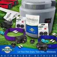 Petsafe PIF-300 Instant Wireless Fence System RFA-67, 2 Dog Blue Purple Collars