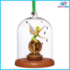 Disney Peter Pan's TinkerBell Glass Dome Sketchbook Christmas Ornament Brand New