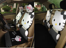 ** 12 Piece Black and White Polka Dot I Love Hello Kitty Car Seat Covers **