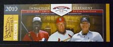 Orioles Brooks Robinson Autograph 2010 Hall Of Fame Induction Ticket Dawson Auto