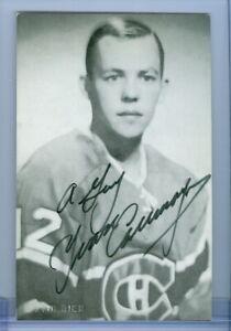 1950's B&W Portrait Montreal Canadiens Habs Signed Postcard - YVAN COURNOYER