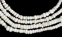 Old Venetian glass trade beads white tiny seed beads African trade Ghana Dipo