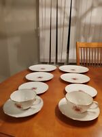 Lenox Roselyn China Two 5 Piece Place Setting Pink Rose Gold Trim circa 1952-80.