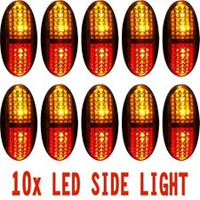 10x 12V 24V Side Marker Lamp Amber/Red LED Clearance Light Car Truck Trailer RV
