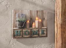 """LED Bild """"home"""" Holz DEKO Wand schmuck Leuchtdeko Hänger"""