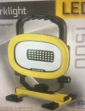 PowerGlow Portable LED Work light 1500 Lumens  NEW IN FACTORY SEALED BOX