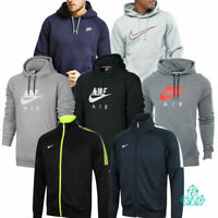 Mens Nike Hoodie Pullover Zipped Jumper Fleece Embroidered Grey Black Navy Neon