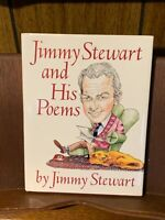 1989 1stEd Jimmy Stewart Signed Poetry Poems DustJacket Illustrated Dog Pet Gift