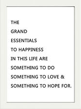 INSPIRATIONAL MOTIVATIONAL POSITIVE HAPPINESS QUOTE  A4 POSTER PRINT WALL ART