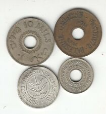 PALESTINE COINS 10 MILS 1935 & 1943  5 mils 1941 & 50 MILS 1942