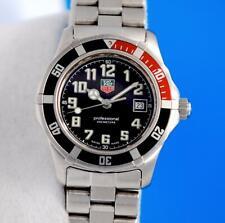Ladies Tag Heuer Sport Quartz 2000 Classic SS Steel watch - Black / Red - WM1312