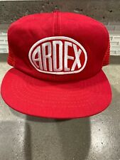VINTAGE ARDEX MATERIAL COMPANY RED LOGO SNAPBACK CAP Trucker Hat
