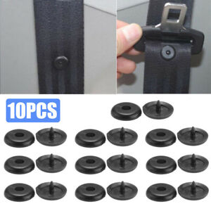10x Seat Belt Stopper Buckle Car Part Clips Button Fastener Safety Accessories