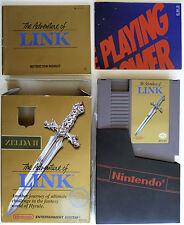 Zelda II: The Adventure of Link *Complete In Box CIB* (MIXED) Nintendo NES