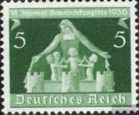 Deutsches Reich 618 mit Falz 1936 6. Gemeindekongreß