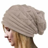 New Unisex Women Knitted Winter Warm Ski Slouch Oversized Beanie Cap Hat