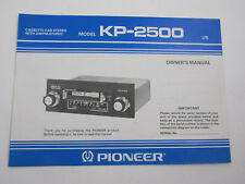 Pioneer KP-2500 Owners Manual Cassette Car Stereo with AM/FM Stereo