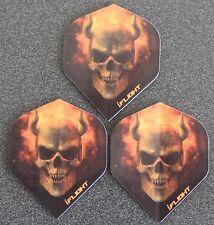 10 Packets of Brand New Ruthless Invincible Darts Flights - Skull & Horns