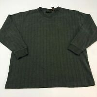Alexander Julian Colours Sweater Men's Large Long Sleeve Green V Neck Cotton