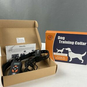 Training Shock Collar Remote Waterproof Rechargeable Sound Vibrates Med To Large