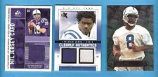 PEYTON MANNING GAME USED MARVIN HARRISON ROOKIE CARD + Edgerrin James DUA JERSEY