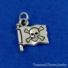 Silver PIRATE FLAG Jolly Roger CHARM PENDANT