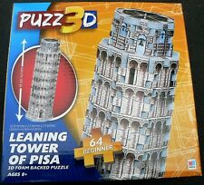 PUZZ 3D FOAM BACKED MINI MILTON BRADLEY LEANING TOWER OF PISA PUZZLE NEW SEALED