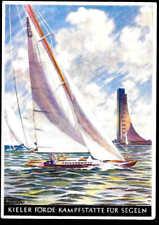 Germany WWII WW 2 unsed postcard  Olympic 1936 Kiel