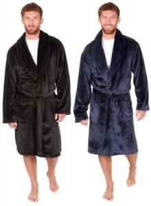 Mens Sleepy Joes Luxury Thick Super Soft Feel Dressing Gowns Robes Wraps M-5XL