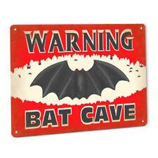 Warning Bat Cave Sign Man Cave Bedroom Decor Boys Girls Decoration Gift