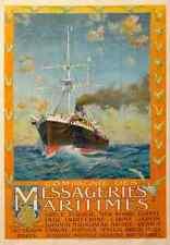 Signe Métallique compagnie des messageries maritimes GRECE TURQUIE mer noire Egypte A4